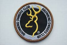 Clay Pigeon, Browning Owners Club, tir, chasse, pêche badge patch