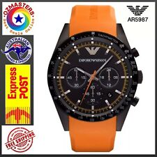 Emporio Armani AR5987 Men's Sports Orange Silicone Strap Chronograph Wrist Watch