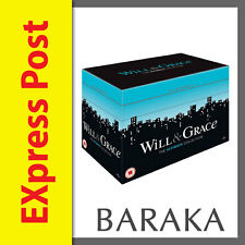 WILL & AND GRACE The Complete Seasons Series 1 2 3 4 5 6 7 8 DVD BOX SET R2
