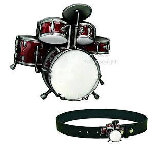 Schlagzeug Drummer Drums Musik Schlagzeuger Drumset Gürtelschnalle Buckle *282