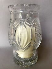 MIB Galway Celtic Pillar Hurricane Lamp w Candle NEW in Box