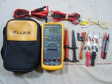 FLUKE 87V TRMS MULTIMETER KIT WITH LEADS  + TEMP PROBE + FLUKE CASE - 57855.