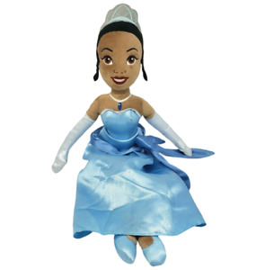 """20"""" DISNEY STORE PRINCESS AND THE FROG TIANA BLUE STUFFED ANIMAL PLUSH TOY DOLL"""