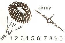 Wall Painting Stencil  Army Parachute Aeroplane  Quality Stencilling Border Tool
