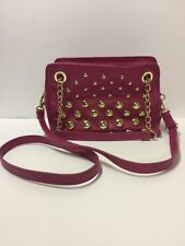 Betsey Johnson Pink Gold Studs Or Balls Chain Shoulder Bag Handbag Purse