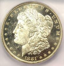 1881-O Morgan Silver Dollar $1 - ICG MS63+ DMPL (DPL Plus Grade) - $450 Value!