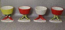 Dept 56 Krinkles High Heel Shoe Cupcake Holders Ceramic Patience Brewster Set 4