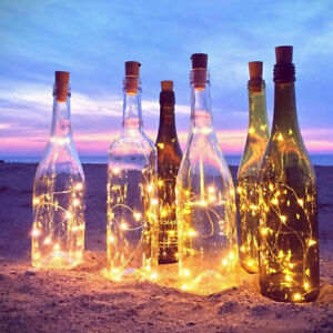 3-6pcs usb//Battery Fairy Cork Lights String Wine Bottle Stopper For Party Events