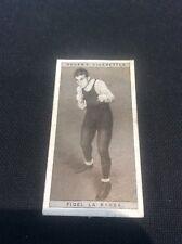 Fidel La Barba 23 1928 Ogdens Boxing Cigarette card Boxer Pugilists in action