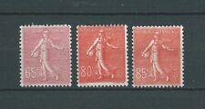 SEMEUSE - 1924 YT 201 203 et 204 - TIMBRES NEUFS* trace de ch. - COTE 48,00 €