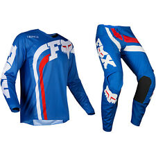 Ragazzi Bambini Fox Racing 180 Motocross MX Kit Pantaloni Maglia - Cota Blu