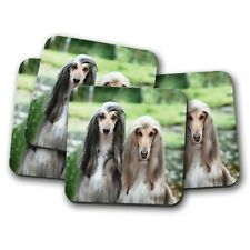4 Set - Beautiful Afghan Hounds Coaster - Dog Puppy Cute Cool Pets Gift #15880