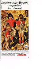 PUBLICITE ADVERTISING 064  1971   ABSORBA   vetements enfants