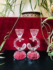 Rare Swarovski pair of Baroque Candleholders - 1983-1986