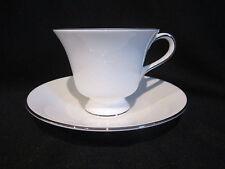 Wedgwood SILVER ERMINE - Teacup and Saucer Contour Shape