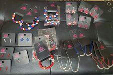 Paparazzi Starlet Shimmer 4th Of July Earrings lot of 26 bracelets & earrings