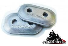 Al245648 SnowStuds 48 Aluminum Double Backer Plates for Snowmobile Studs washers