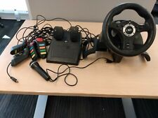 MadCatz Racing Wheel & Pedals for PS3 + Buzz! Buttons and Microphone BUNDLE