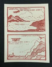 MOMEN: COLOMBIA SCADTA STAMPS 1920 AIRMAIL PAIR 10c RED MINT NH NGAI LOT #10761