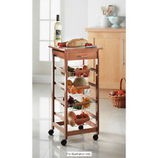 4 Tier Drawer Ceramic Tiled Kitchen Trolley with Wheels (Honey G-0020) Easy use