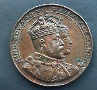 Edward VII & Alexandra, Cardiff Queen Alexandra Dock Opening Copper Medal, 1907