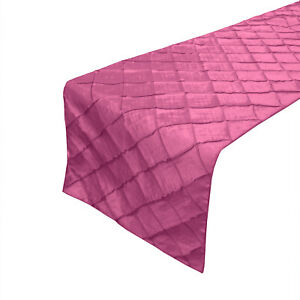 Taffeta Pintuck Table Runners for Wedding/Bridal Shower/Special Events