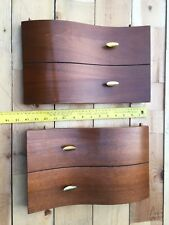 Two Small Curvy sliding Wood Doors for headboard / whatever