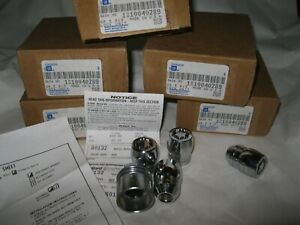 New OEM GM Alloy Wheel Locking Lug Nuts & Key Set of 4 Riviera Cadillac Grand Am