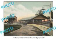 OLD LARGE PHOTO FEATURING COLLINGWOOD VICTORIA PARK FOOTBALL GROUND c1900