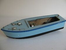"1950s Japan Battery Operated Wood Chris Craft Style Boat 11"" *Works VG"