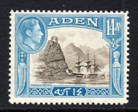Aden 14 Anna Stamp c1939-48 Mounted Mint (2993)