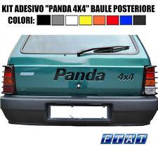 """FIAT PANDA 4X4 - ADESIVO STICKER """"PANDA 4X4"""" PORTELLONE POSTERIORE - NO SISLEY"""