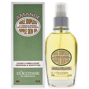 Almond Supple Skin Oil by LOccitane for Unisex - 3.4 oz Body Oil