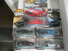 HOTWHEELS FAST & FURIOUS FULL FORCE SET OF 5  ALLOYS RUBBER TYRES -