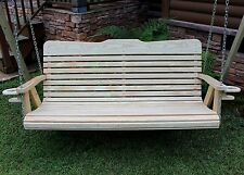 Classic Amish Heavy Duty 700Lb 4ft Porch Garden Swing W Cupholders-Usa