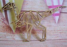 T Rex Geometric MDF  Dinosaur 150mm Craft Blank, plaque
