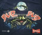 LARGE 90s Vintage BUDWEISER 1995 FROG THIS BUDS FOR YOU SINGLE STITCH Shirt