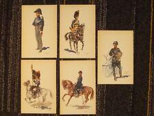 Gendarmerie belge / Rijkswacht - 5 cartes postales (Demart 1950) sous farde