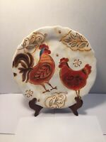 """Pier 1 Imports Gallo Ironstone Rooster Dinner Plate 11"""""""