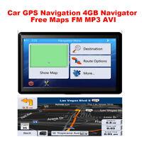 5 Inch Car Vehicle GPS Navigation 4GB Navigator AU EU Free Maps Touch Screen FM