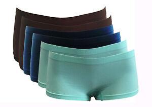 """2/6 Pack Women Basic Nylon Spandex Boy shorts Stretchy Briefs 6"""" Mini Shorts"""