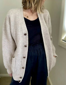 Vintage oversized wool cardigan from France