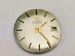 Tissot Visodate Men's Watch Dial + Hour & Minute Hands, Tissot Watch Parts