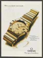 OMEGA constellation watch 1992 Print Ad