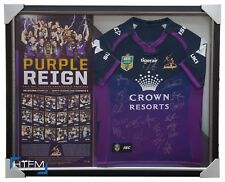 2017 NRL Premiers Melbourne Storm Signed NRL Grand Final Team Jersey Framed +COA