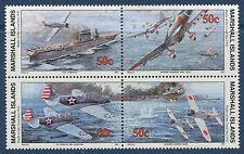 Marshall Islands 1992 World War 2 WW II Scott 308-11 Battle of Coral Sea W42 NH