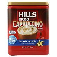 (12 Pack) Hills Bros Sugar Free French Vanilla Cappuccino Beverage Coffee, 12 Oz