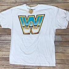 WWE Logo Tshirt NEW Large Raw Smackdown White Licensed 2007 NWT