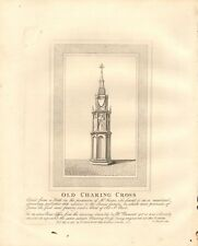 1792 ANTIQUE PRINT- ARCHITECTURE- LONDON - OLD CHARING CROSS
