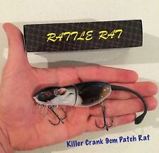 9cm Killer Crank Rattle Rat (Patch) Surface Cod/Bass Fishing Lure